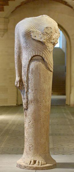 Kora z Samos, ok. 570 - 560 p.n.e. (Luwr, Paryż)