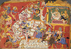 Krishna Battles the Armies of the Demon Naraka...