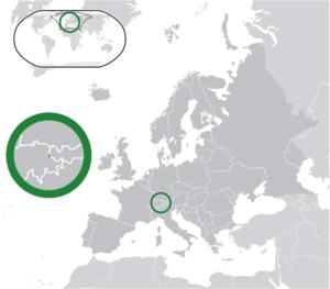 Liechtenstein (dark green) / Europe (dark grey...