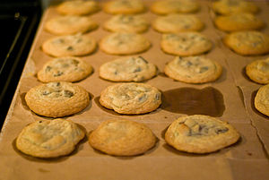 Missing chocolate chip cookie.