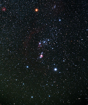 English: The constellation Orion, with Betelge...