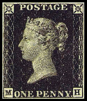 The British Penny Black is generally acknowled...