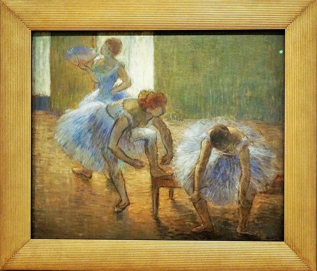 """""""Three Dancers at a Dance Class"""" by Edgar Degas"""