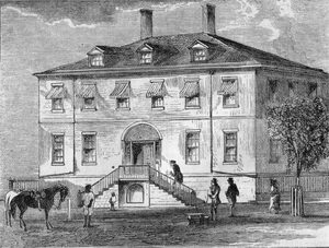 Engraving of the U.S. Treasury building in 1804.