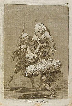 Capricho nº 77: Unos a otros de Goya, serie Lo...