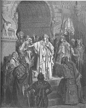 English: Queen Vashti Refuses to Obey Ahasueru...