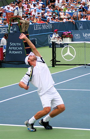 Andy Roddick at the Legg Mason tennis tourname...