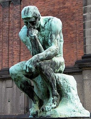 Deutsch: Der Denker durch Auguste Rodin. Grubl...