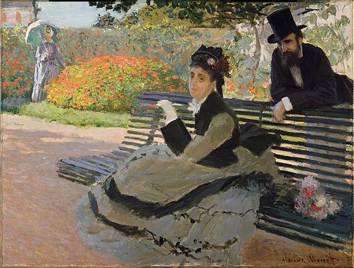Claude Monet, 1873, Camille Monet on a Bench, oil on canvas, 60.6 x 80.3 cm, The Metropolitan Museum of Art, New York
