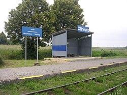 Ctiněves, železniční zastávka