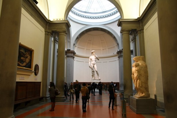 David by Michelangelo in The Gallery of the Accademia di Belle Arti