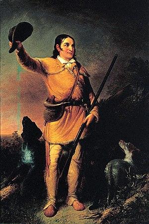 Portrait of David Crockett, by John Gadsby Cha...