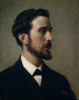 Retrato del pintor Eduardo_Rosales. Óleo sobre...