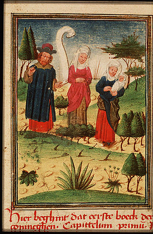 English: Illustration of Elkanah and his two w...