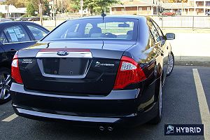 2010 Ford Fusion Hybrid with inset Ford's leaf...