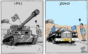 """English: """"Greece under occupation again&q..."""