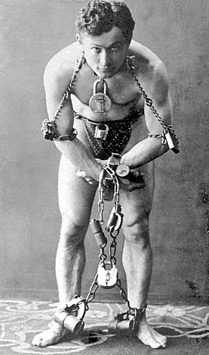Harry Houdini, full-length portrait, standing,...
