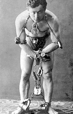 Harry Houdini, full-length portrait, standing,...