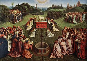 The Ghent Altarpiece: Adoration of the Lamb ( )