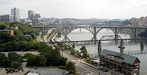Knoxville, TN, as seen from the top edge of Ne...