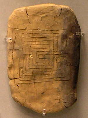 Reverse of a clay tablet from Pylos bearing th...