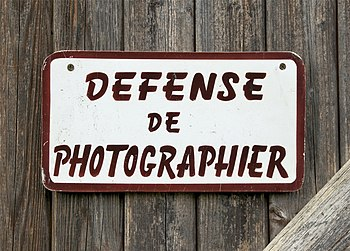 English: Photography forbidden. A nightmare......