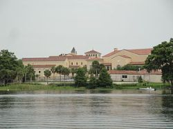 View of Rollins College from Lake Virginia