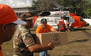 English: USAID packages are delivered by Unite...