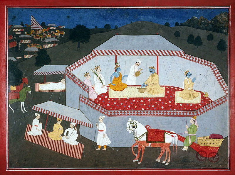 Arjuna and Krishna together for the first time