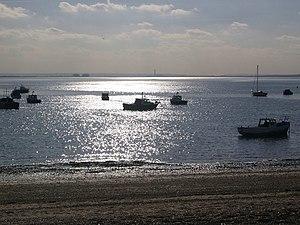 English: Boat moorings, Shoebury Small boat mo...