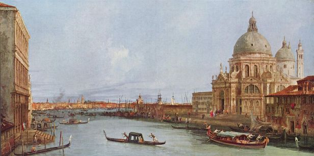 Santa Maria della Salutein Venedig vom Canal Grande byCanaletto