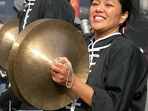 Cymbals, Chinese New Year in front of House of...