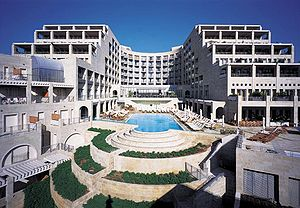 English: Back view of David Citadel hotel, Jer...