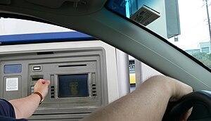 Using a drive-through ATM in Texas