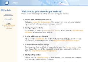 A screenshot of the Drupal CMS software