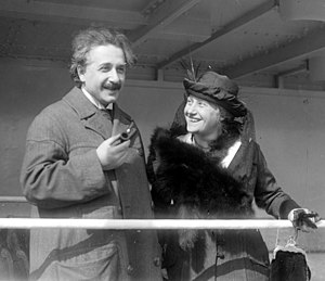 Elsa Einstein with her husband
