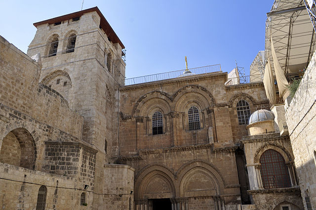 The Church of the Holy Sepulchre, where it is belived that Jesus died and rose again