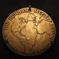 Hubbard Medal, National Geographic Society. Aw...
