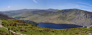 Luggala Mountain behind Lough Tay, in County W...