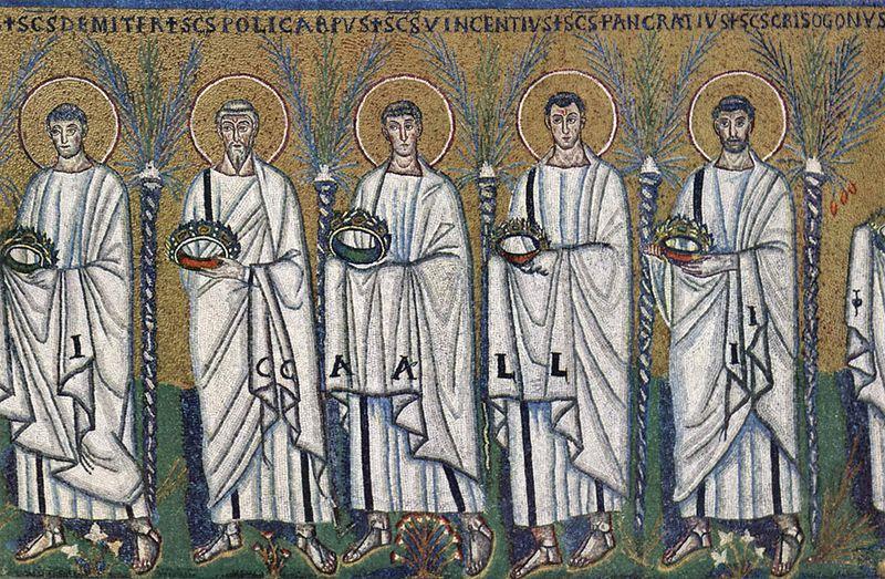 procesja męczenników, San Apollinare Nuovo