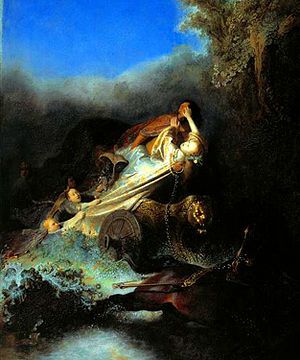 English: Persephone kidnapped by Hades.