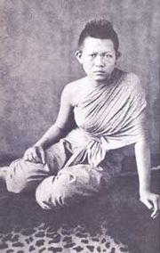 Retrato de una mujer siamesa, alrededor de 1861. Álbum de papel de plata.