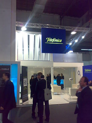 Telefonica stand at GSMA Barcelona