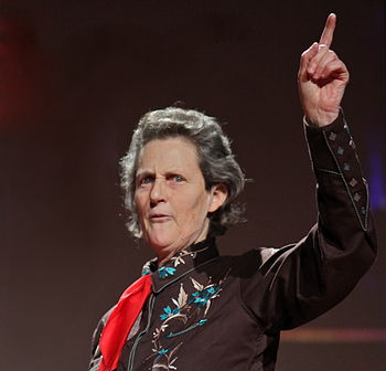 English: Temple Grandin's talk at TED 2010.