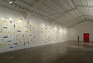English: Installation view of Wegner show &quo...