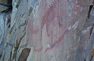 Pictographs at Lake Superior Provincial Park, ...