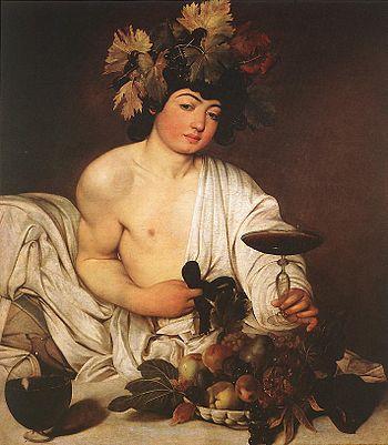 """""""Bacchus"""" by Caravaggio."""