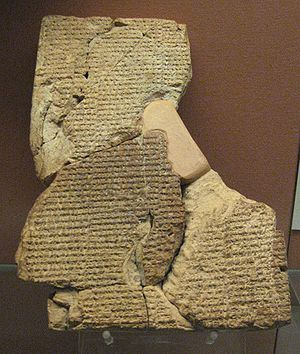 Cuneiform tablet with the Atra-Hasis Epic in t...