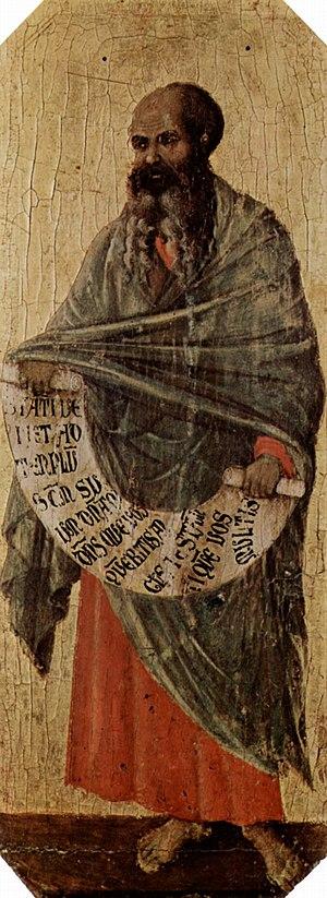 The Prophet Malachi, painting by Duccio di Buo...