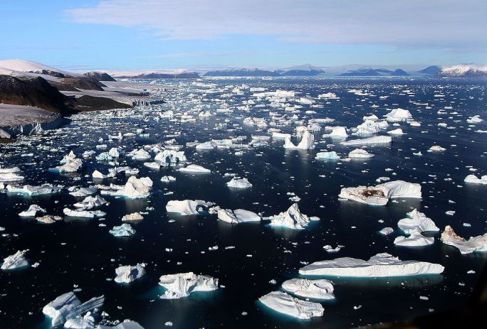 Glaciers and Icebergs at Cape York